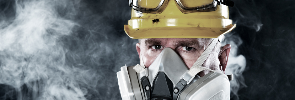 Man with Respirator