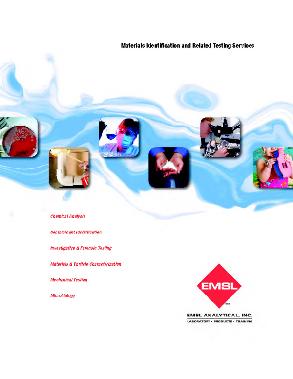 Emsl Materials Testing Lab Services Guide